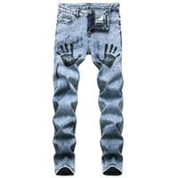 Jeans Menores Hombres Moda Classic Primavera Autumn Hombre Pegado Straight Stretch Denim Pantalones Verano Monos Slim Fit Pantalones