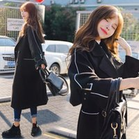 Woolen coat women' s medium long autumn and winter new l...