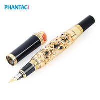 Luxury Eastern Dragon Fountain Pen Vintage Brand Gold Iraurita 0.5mm Ink Writing Pens School Office Business Stationery