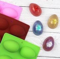 8 달걀 모양의 부활절 달걀 실리콘 베이킹 금형 과자 초콜릿 금형 푸딩 얼음 트레이 금형 부활절 DIY 비누 금형 공예품 선물 W87