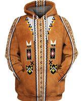 vente chaude Indien indigène Sweats à capuche 3D / Sweats Hommes Femmes New Mode hiver à capuchon automne manches longues streetwear Pull-5 Y201006