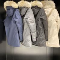 13 남성 Luxurys 디자이너 의류 캐나다 겨울 베스트 셀러 후드 재킷 아래로 파카 동물 패턴 실버 라벨 남자 겉옷 크기 XXL