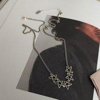 Cadenas 925 Plata esterlina Collar de estrella de cinco puntas Femenino Clavícula tailandesa anti-alérgica para mujeres S-N666