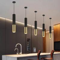 Светодиодный светильник поверхностный монтируемый люстра ресторана ресторана передняя стойка бар круглые длинные трубки люстра одна головка потолочная лампа