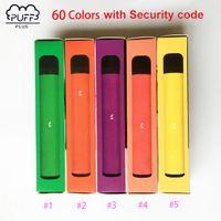 Mais recentes 60 cores Barra Puff mais descartáveis Vapta Puff Barras Plus 3.2ml POD Pre-Cheio 550mAh Battery Stick Style Dispositivo Descartável Portátil