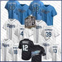 12 Wade Boggs 39 Kevin Kiermaier Tampa 2020 Bay Custom Rays Jersey Jersey Blake Snell Jackie Robinson Matt Duffy Evan Longoria Joey Wendle