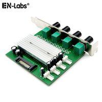 PC cooler Radiador 4 5 maneiras de 3 pinos de 4 pinos Ventilador de velocidade Temperatura Controlador w Cover / PCI, 12V 1A caso fã 3A DDC D5 Água Pump Control