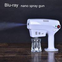 2021 اللاسلكية المحمولة نانو الكهربائية الانحلال التطهير بندقية رش 250ml الاتحاد الأشعة الزرقاء آلة المطهر قوية رذاذ شحن مجاني FS9000