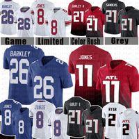26 Saquon Barkley 8 Daniel Jones Football Jersey 11 Julio Jones 21 Todd Gurley II 2 Мэтт Райан 21 Дейон Сандерс