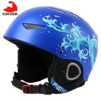 Skihelme Kokossi Winter Kinder Helm Kinder Atmungsaktive Snowboard Jungen Mädchen Outdoor Sports Halten Sie Warm Skifahren Skiting Kopf tragen
