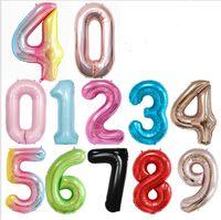 """40 pollici grande foil numero palloncini 40 """"gigante grande mongolfiera 0-9 numeri galleggiante palla felice compleanno festa di nozze 2021 nuovo anno decorazione E122301"""