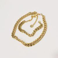Explosion Klassisch Designer Schmuck Dame 14k Gold Mode Halskette Armband Hohe Qualität Reines Kupfermaterial