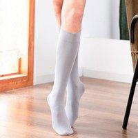2 Paare rutschfeste Yoga Socken für Frauen Fitness Yoga Pilates Training Anti-Skid Calf-Länge Socken Hohe elastische dicht feste Farbe