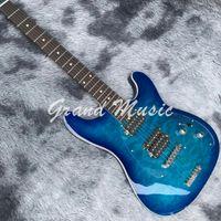 Música personalizada-hombre 6 cuerdas guitarra eléctrica en púrpura