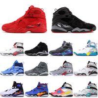 nike air jordan retro 8 8s 2021 al por mayor de calidad superior JUMPMAN 8 8s los zapatos de baloncesto del Mens día de San Valentín criado Chrome Raid Bred Deporte 7-13