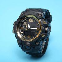 Vendita calda ordinaria Casual Sports Orologio da uomo LED Digital Watch GWG100 PU Belt Big Dial