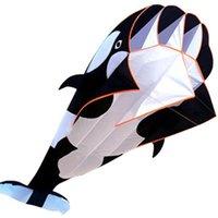 Software 3D dos desenhos animados Kite Whale Forma Padrão animal Uma única linha com 30m de Cordas Linha pipas 1018