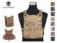 Supporto posteriore Emersongar Jum Plate Puntatore 2.0 Combat Protezione toracica Vest EM7436 Multicam Nero