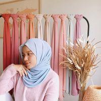Malaysia-reine Farbe Chiffon- langer Schal Monochrome Chiffon Frauen Hijab 180cm Qualitäts-Schal Neue 39 Farben