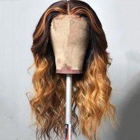 13x6 Spitze Front Menschliches Haar Perücken Peruanische Spitze Frontal Perücken vorgeptet mit Babyhaar Lose Welle Highlights Honig Blondine