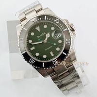 40mm Bilezik Spor Relogio Masculino Aydınlık Otomatik Üst Marque Luxe Hommes Horloge Montres Mekanik Paslanmaz Green1