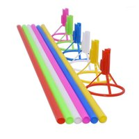 5 / 10st 40cm Plastic Rod met beker aluminiumfolie ballon stick Bobo ballonnen houder bruiloft verjaardagsfeestje ballon accessoires1
