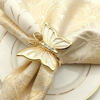 Schmetterlingsform Napin Ringe Servietteninhaber für Abendessen Party Hotel Hochzeit Tischdekoration Supplies Serviette Schnalle 300 stücke T1i3452