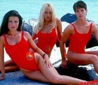 Bfustyle Amerikan Baywatch Aynı One Piece Mayo Kadınlar Kadın Seksi Parti Kırmızı Mayo Yüzücü Artı boyutu Swimwear99