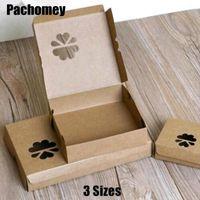Подарочная упаковка 3 Размеры Крафт-бумажные коробки с полыми цветочными для яичного пирога Candy Chocolate Классическая упаковка 10 шт. / Лот PP804
