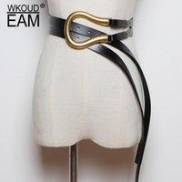 Wkoud edeam 2020 новый модный осенний ремень для женщин коскин металлические кольца пресс типа модная корея случайные классические пояс женщины 1k7551