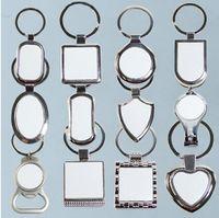 12 Styles Blank Schlüsselanhänger Für Sublimation Runde Liebe Schlüsselanhänger Iewelry Thermotransferdruck DIY Blank-Material-Verbrauchsmaterial