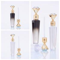 Diamante Lip Gloss tubi chiari Svuotare Lip Gloss tubo Lip Gloss Viaggi Bottiglia Packaging contenitori riutilizzabili Lipgloss Bottiglie RRA3792