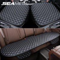 Assento de carro Cobre Seametal Set PU Protetor de Couro Interior Assentos Automóveis Coxim Tapetes Cadeira Tapete Pads Acessórios1