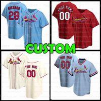 Custom St. Louis 28 Nolan Arenado Cardeal 4 Yadier Molina Baseball Jersey Paul Goldschmidt 13 Matt Carpenter Dylan Carlson Jack Flaherty