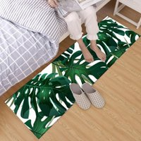 Badematten Grün Monstera Blätter Kristall Samtbereich Teppich und Teppich für Kinder Baby Home Wohnzimmer Kissen Schlafzimmer Boden Toilettenmatte