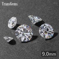 Свободные драгоценные камни трансгемс 9 мм 3 CARAT GH Color сертифицированный человек сделал бриллиант моассанит тестируют шарик, как настоящий драгоценный камень1