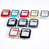 Стекло + чехол для Apple Часы серии 6 5 4 3 SE 44мм 40мм iWatch Дело 42мм 38мм бампера протектор экрана + крышка яблока часов Accessorie