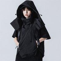Michalkova Trend Ürünleri Taktik Yaratık Yelek Streetwear Erkek Giysileri Siyah Ceket Hoodies Gevşek Ve Rahat 201127