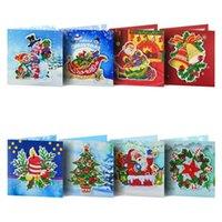 Christmas Card 5D Diamond Painting Kits Christmas Tree Santa Claus Full Drill New Year Greeting Card DIY Decor Gift