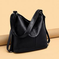 Grandes Capacidade Mulheres Hobos Bag 2021 Multifuncional Vintage Feminino Messenger Bag Designer Ombro Sacos de Sacos SAC A Main