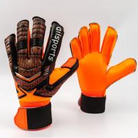 Новый дизайн Профессиональный футбол Воротарь Главы Латексные Защиты Палец Детские Взрослые Футбольные Вратающие Перчатки LJ200923