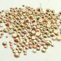 Metall Sonnenlicht Kristall Glas Nagel Rhinestones Non Hotfix Flatback SS3-SS20 Strasssteine für Nägel Kunstdekorationen 3D Edelsteine