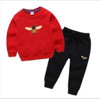 GC HoneyBee Brand Luxury Designer Churs Traje Chico Sudaderas con capucha Baby Suéter Camisa Pantalones 2pcs Traje Niños Muchachos Y Trajes De Niñas