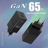 الجاليوم 65W السلطة USB شاحن C تسليم 3.0 مع MOSFET (سوبر سيليكون) التقنية، USB-C امدادات الطاقة لأجهزة الكمبيوتر المحمولة USB C / الهاتف الذكي، الخ