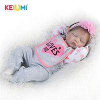 """Lebensleine Reborn Puppe Tuch Körper 22 """"55 cm Realistische Schlafmädchen Prinzessin Schöne Baby Puppen für Kind Geburtstagsgeschenk Kleinkind Spielzeug LJ201125"""