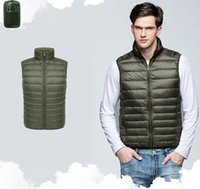 Men Puffer Down Vests Casual Pure 4 Colors Pocket Zipper Mens Coats 2020FW Outerwear Women Clothing Stand Collar Fashion Tops Wholesale