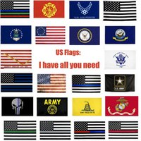 USA Bandiere US Army Banner Airforce Marine Corp Navy Besty Ross Bandiera Dont Tread On Me Bandiere sottili xxx Linea Flag KKA903