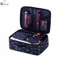 Sacs de rangement Ruputin Femmes Maquillage Bag Travel Cosmétique Organisateur Portable Maquillage Maquillage Pochette Chaîne de toilette Femme Kit