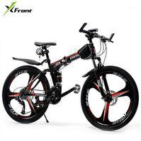 Bicicletas X-Front Marca 26 polegadas Roda 21/24/27 Speed Carbon Steel Quadro Mountain Bike Bicicleta Ao Ar Livre Downhill Dobrável Bicicleta MTB Bicycle1