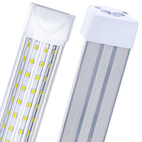 20pcs, a forma di U 2ft 3ft 4ft 5ft 6ft 8ft Cooler Porta di raffreddamento Tubi a LED T8 Integrated LED Tubi 4 lati LED Luci Armiture in USA